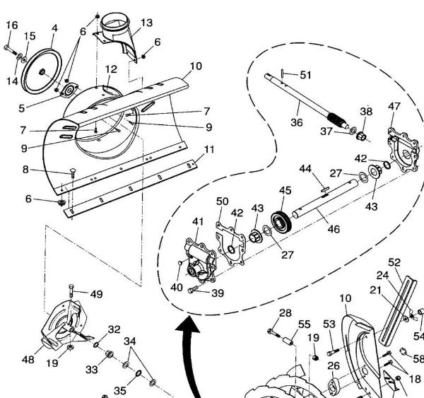 husqvarna snowblower parts diagram  husqvarna  free engine